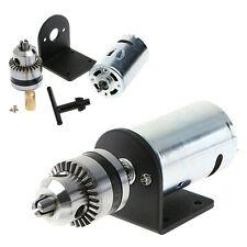 "Mini Hand Drill DIY Lathe Press 555 Motor w/ 1/8"" Chuck+ Mounting Bracket 12-36V"
