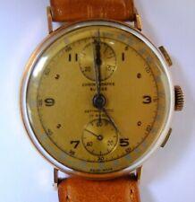 Montre Chronographe  Suisse  1950   OR 18 K