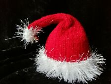 Hand Knitted Christmas Santa Hat with Bell Chocolate Orange Cover
