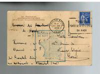 1939 France FFC First Flight Postcard Cover Paris to Marseilles