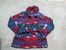 NEW Ralph Lauren Polo Cardigan Sweater Robe Womens Large Aztec Wool Hand Knit