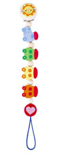 HEIMESS 762620 Wooden Train Clip on DUMMY/SOOTHER/PACIFIER Chain Baby NEW
