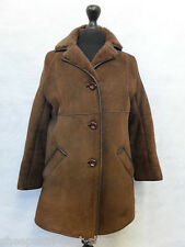 Women's Brown Sheepskin Coat Size 10 MV5701