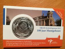 Coincard Nederland 5 euro  100 jaar Muntgebouw  2011 met boekje