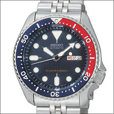 Seiko Black 21-Jewel Automatic Dive Watch, Stainless Steel Bracelet #SKX009K2