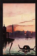 Tuck artist signed Bob boats Venice Italy postcard