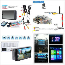 7'' HD Touch Screen Car Video Stereo MP5 MP3 Player FM Bluetooth Rearview Camera