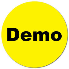 1 Inch Circle, Demo on Yellow Gloss, Roll of 500 Stickers