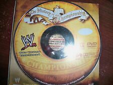 WWE DVD Sampler Disc History of the WWE Championship Rare Sales Sample 2006