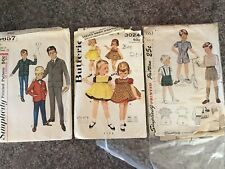 New ListingVintage Sewing Pattern Lot, Children's Boys Suits, Girls Dress sz 2 and 4 1950s