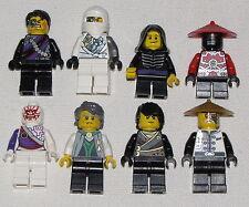 LEGO LOT OF 8 NINJAGO NINJA MINIFIGURES LLOYD ZANE KAI MORE FIGURES