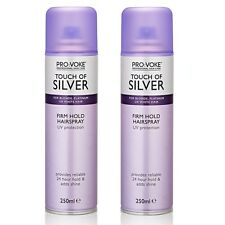 2x Provoke Touch of Silver Firm Hold Hairspray 250ml