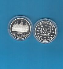 Monuments d' Europe 15 écus/100 Francs en argent 1994 Place Saint-Marc Italie