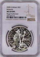 2020 Britannia One Ounce Silver Brilliant Uncirculated Coin MS69 DPL