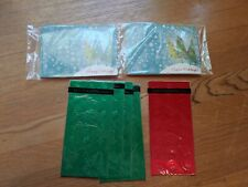 Christmas Lot: Foil Stickers (315 total) And Gift Card Holder Cards (16) - New!