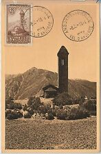 56884 - French ANDORRA - POSTAL HISTORY: MAXIMUM CARD 1938 - Architecture