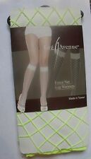 NEON YELLOW FENCE NET FISHNET FOOTLESS SOCKS LEG AVENUE LEGWARMERS GREAT W HEELS