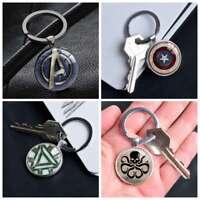The Avengers Iron Man America Captain Keychain Keyring Pendants Keychains Gift
