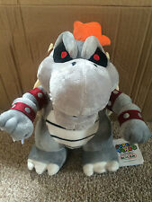 Super Mario Plush Teddy - Dry Bowser Soft Toy - Size: 28cm - NEW