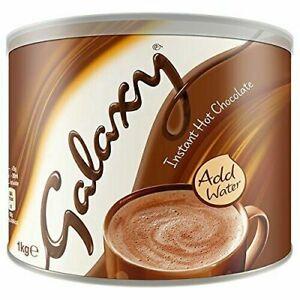 Galaxy Instant Hot Chocolate Drink Powder 1kg Tin, Just Add Water
