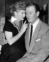 """LUCILLE BALL & JOHN WAYNE IN TV SHOW """"I LOVE LUCY"""" 8X10 PUBLICITY PHOTO (BB-161)"""