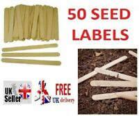 Seed Plant Cuttings Labels with Pencil New Wooden Packs of 50 Garden Crafts Pot
