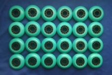 Lot of 24 Rollerblade Inline Fitness Hockey Skate Wheels 70mm 84A (Teal)