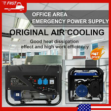 3000w Gas Generator Engine For Jobsite Rv Camping Standby Powered Portable New