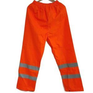 Blackrock Hi Vis Over Trousers Waterproof High Viz Work Pants Pockets Size M