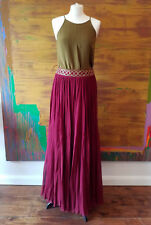 Zaeem Jamal full silk maxi skirt size medium.