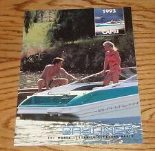 Original 1993 Bayliner Capri Sales Brochure 93 Cuddy Bowrider Sport Rendezvous