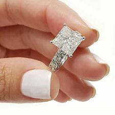 3.00 Ct Square Princess Cut Diamond Engagement Ring 14k White Gold