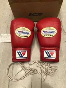 Winning MS-300 10oz boxing gloves red Japan w/ box tags