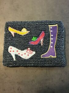 Beaded Coin Purse - Shoes