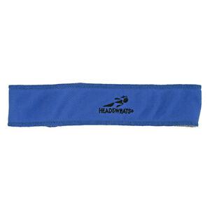 BLUE HEADBAND HEADSWEATS TOPLESS COOLMAX CYCLING RUNNING HEAD BAND SWEATBAND