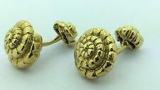 Estate Piece Cuff Links Estate Piece 18K Yellow Gold Nautilus Cufflinks