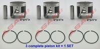 For YAMAHA GP760/GP1200 NPV Piston Kit STD (64X-11631-00 65U-11631-00 + Ring) X3