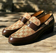 New! GUCCI Quentin Original GG Canvas/Leather Loafer Gucci Size 9.5 US Men10.5
