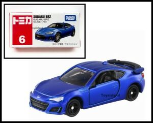 TOMICA 6 SUBARU BRZ 1/60 TOMY BLUE DIECAST CAR 2017 MAY NEW MODEL