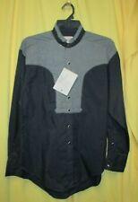 Vintage Antique  Oversize M Rockmount Ranchwear Black Old West Style Shirt