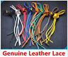 Flat Square Genuine Leather Shoe Laces Pair Deck shoes Boots Thongs Heavy Duty