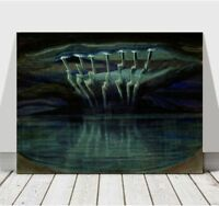 "MIKALOJUS CIURLIONIS - Lightning Over Water - CANVAS PRINT POSTER - 12x8"""