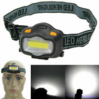 UK 500LM 3W COB LED Rechargeable Head Torch Zoomable Headlamp Outdoor Light Lamp