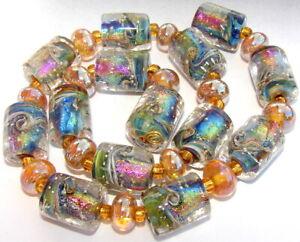 "Sistersbeads ""J-Kismet"" Handmade Lampwork Beads"