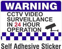 Warning CCTV Security Surveillance Camera Decal Sticker Sign 100x150mm