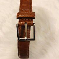 Handmade Men's Genuine  Leather Belt Size 38 Brown Color.