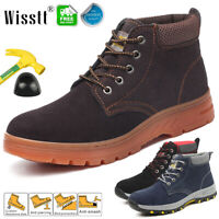 Mens Womens Work & Safety Anti-slip Ankle Boots Steel Toe Trainers Hiking Shoes