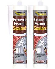 More details for everbuild 2 x extbr 310ml external frame acrylic sealant - grey