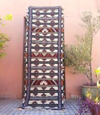 .Handmade  Runner Moroccan carpet corridor long path Berber hallway 100% wool