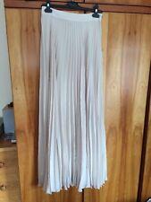 ASOS Nude Beige Pleated Maxi Ankle Skirt 10